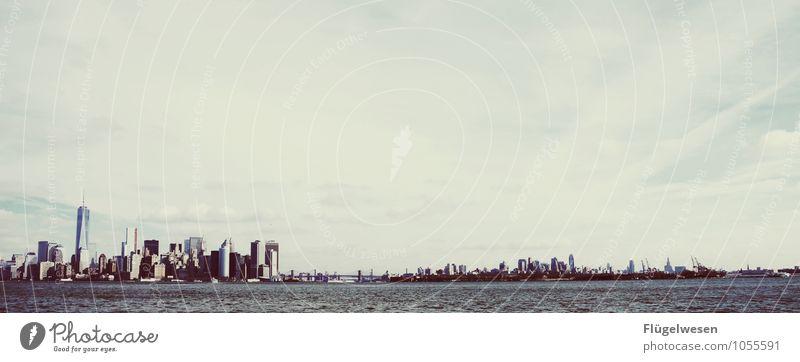 Niu Jorck Sightseeing Städtereise Stadtzentrum Stadtrand Fußgängerzone Skyline bevölkert überbevölkert Hochhaus Bankgebäude Gebäude Architektur Sehenswürdigkeit