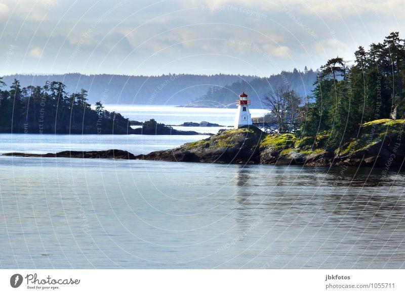 St. Peters, Cape Breton, lighthouse [2] Umwelt Natur Landschaft Urelemente Wasser Himmel Sommer Klima Pflanze Baum Park Wald Hügel Felsen Berge u. Gebirge Küste