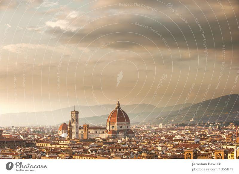 Malerischer Blick vom Michelangelo-Platz auf Florenz, Italien schön Ferien & Urlaub & Reisen Tourismus Sommer Haus Kunst Natur Landschaft Fluss Kleinstadt Stadt