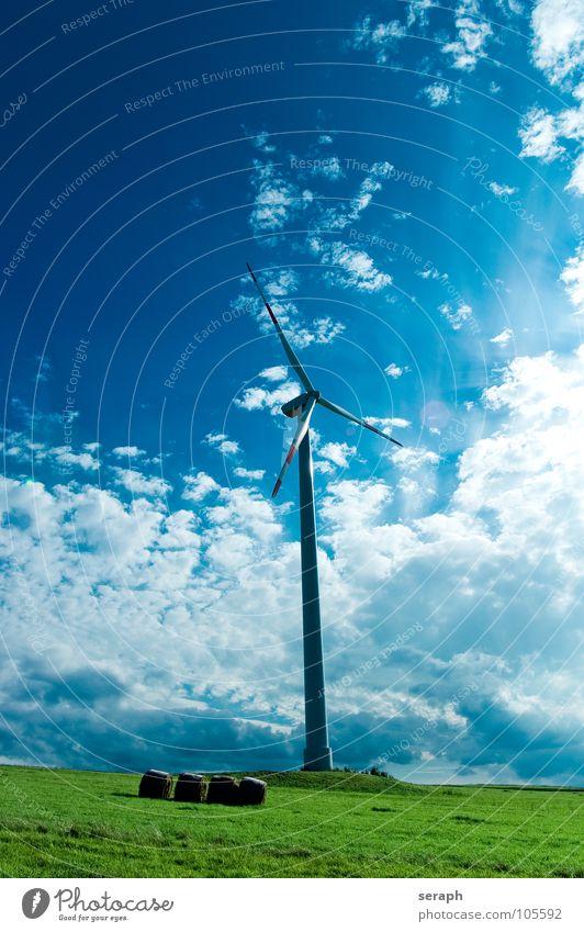 Windrad Windkraftanlage Elektrizität Energie Energiewirtschaft umweltfreundlich Stromkreis Himmel Konstruktion Erneuerbare Energie ökologisch Umweltschutz