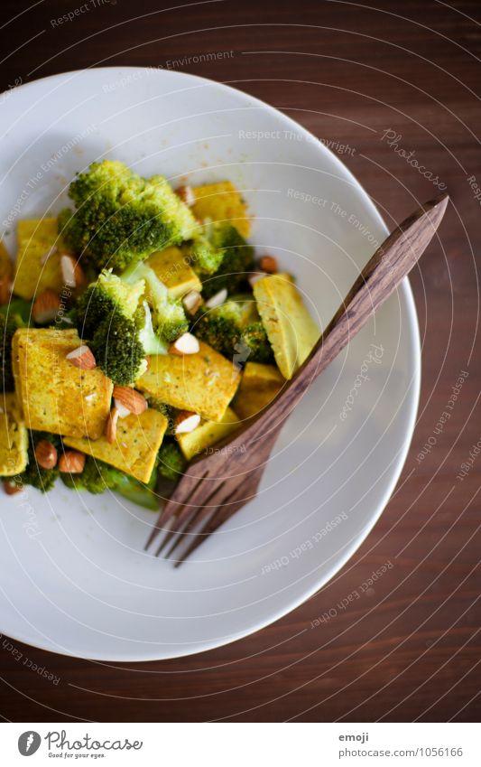 Curry Gemüse Ernährung Mittagessen Vegetarische Ernährung Vegane Ernährung Tofu Brokkoli Gabel frisch Gesundheit lecker Farbfoto Innenaufnahme Menschenleer Tag
