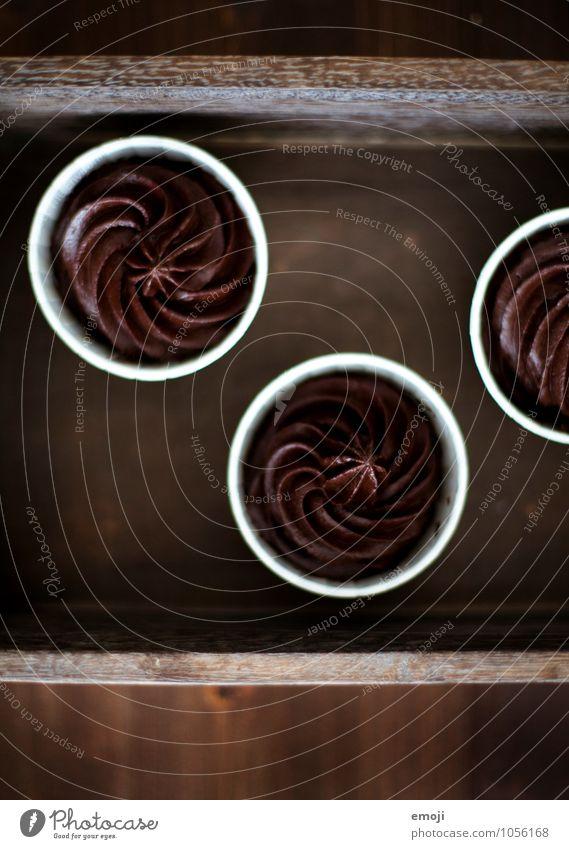 @ braun Ernährung süß lecker Süßwaren Schokolade Dessert Kalorienreich Mousse Mousse au chocolat