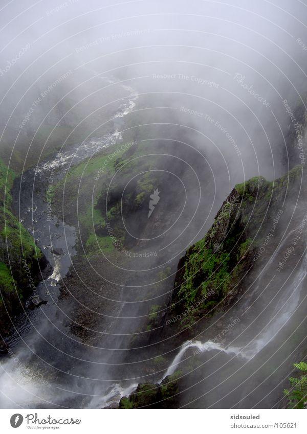 Beim Wasserfall Natur schön Europa Fluss Bach Schlucht intensiv