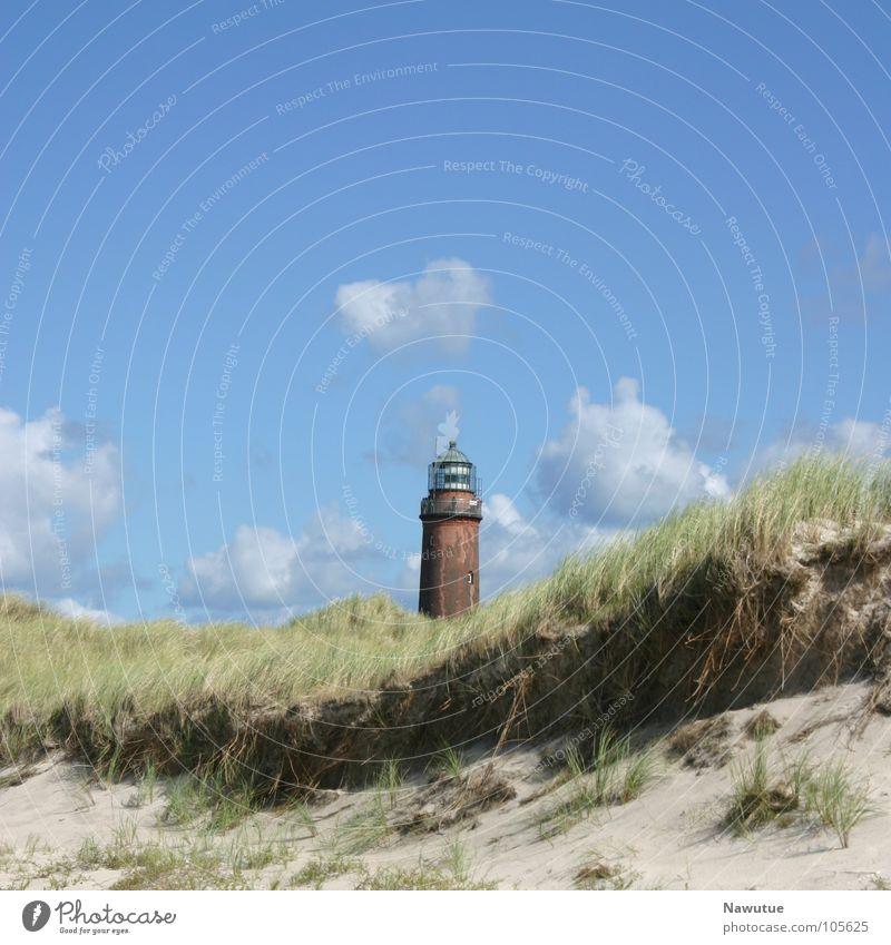 Leuchtturm Prerow Strand Fischland Weststrand Sommer Küste Ostsee Stranddüne Natur