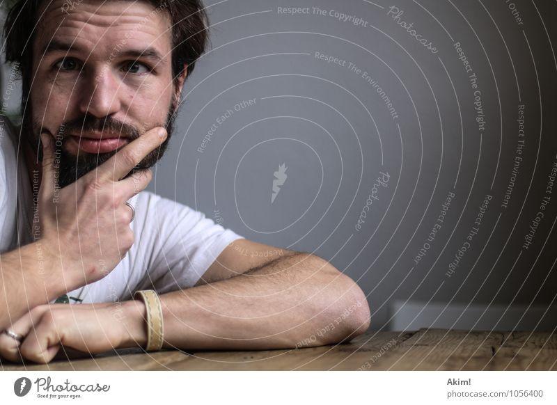 Voller Durchblick maskulin Junger Mann Jugendliche 1 Mensch 18-30 Jahre Erwachsene 30-45 Jahre Denken Toleranz gleich Schielen Zukunftsangst inklusion ratlos