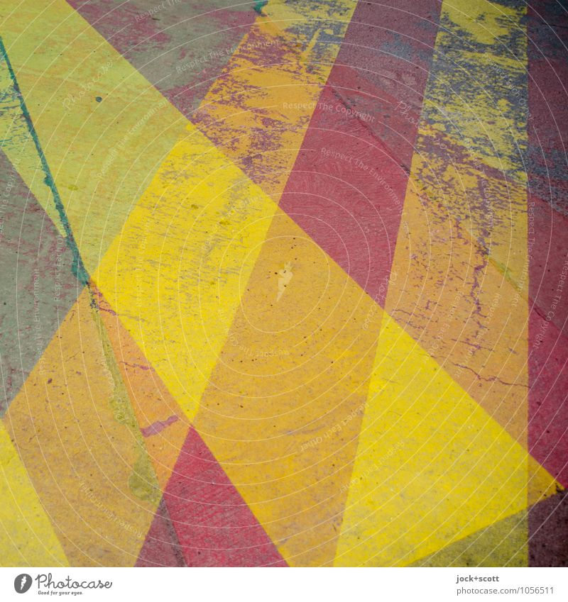 Streifzug gelb Straße Wege & Pfade Stil Hintergrundbild Zufriedenheit Ordnung einfach Streifen einzigartig Grafik u. Illustration Sicherheit Asphalt Vertrauen