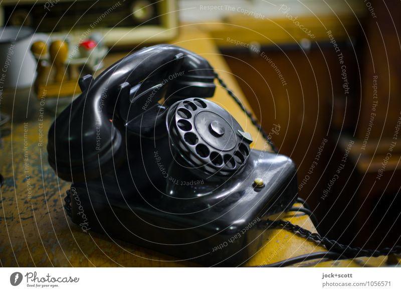 RingRing Klingelding Design Büro Telefon Sammlerstück Wählscheibe Schreibtisch Stempel Kunststoff elegant retro schwarz authentisch Kommunizieren Nostalgie