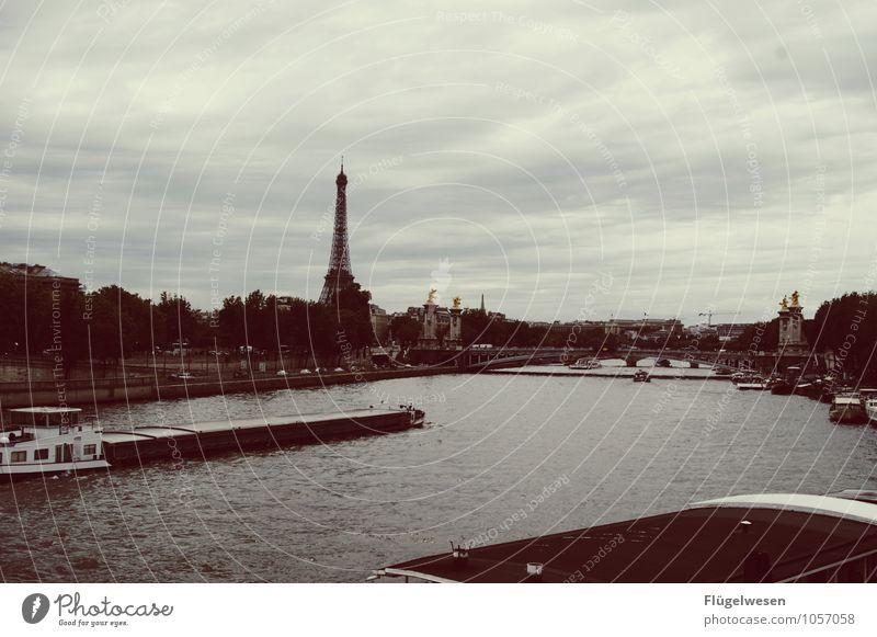 Pariser Ansichten 3 Ferien & Urlaub & Reisen Tourismus Sightseeing Städtereise Fluss Hauptstadt Stadtzentrum Skyline überbevölkert Hafen Gebäude Architektur