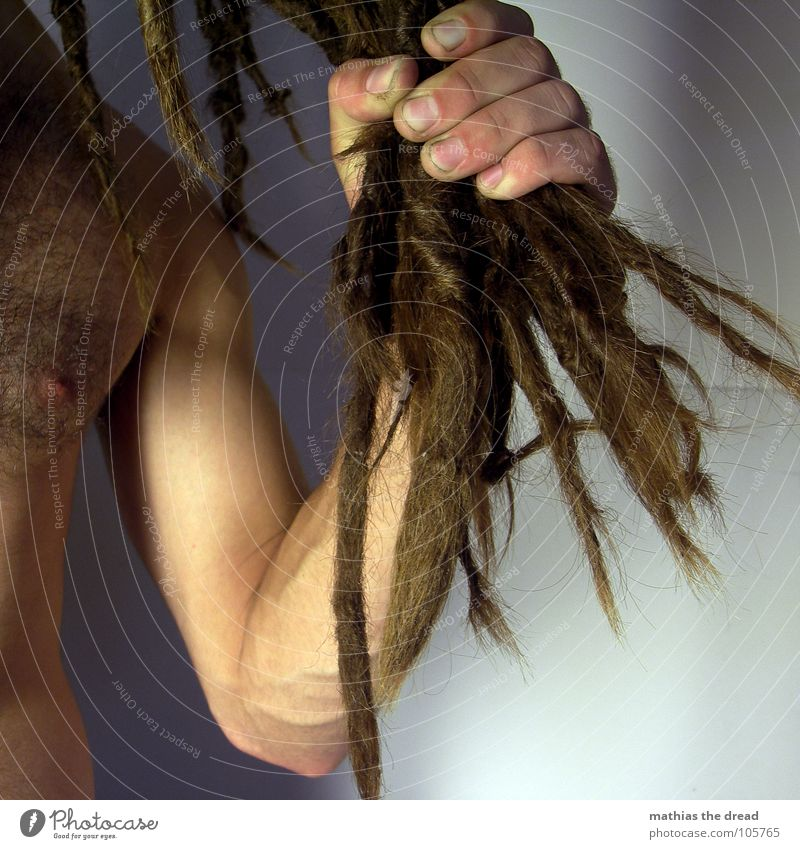 Mathias The Dread VIII Mensch Mann Hand dunkel Haare & Frisuren hell Kraft Angst dreckig Haut Arme maskulin Finger bedrohlich Wut lang