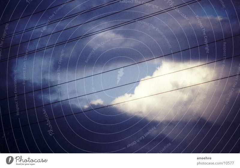 Hochspannung Elektrizität Wolken Linie Himmel Industriefotografie Stromkraftwerke