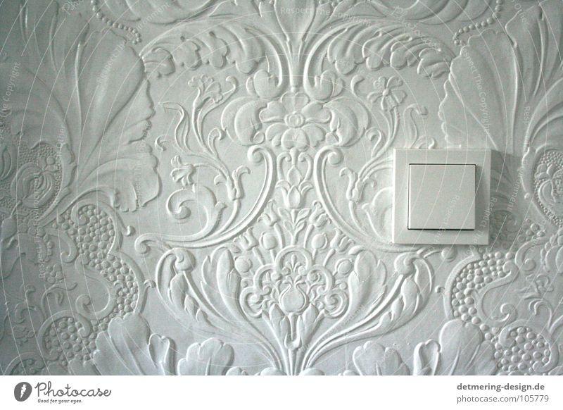 Hochzeit von E2 und Lincrusta* alt weiß Blume Einsamkeit ruhig kalt Wand Spielen grau Raum Wohnung modern Elektrizität Häusliches Leben neu retro