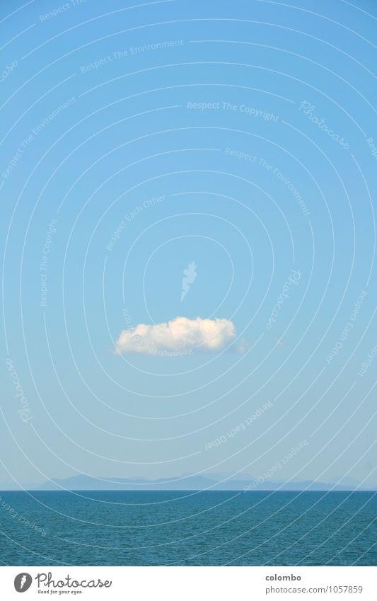 Wolke Himmel Natur Ferien & Urlaub & Reisen blau Wasser weiß Meer Erholung Wolken Ferne Umwelt Glück Freiheit Erde träumen Luft