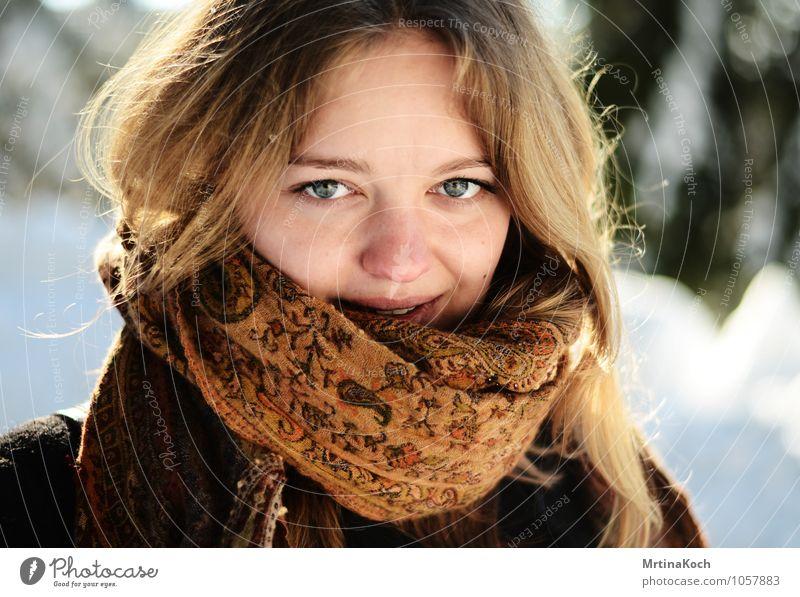the love your given. Mensch feminin Junge Frau Jugendliche Freundschaft Erwachsene Körper 1 18-30 Jahre Umwelt Natur Landschaft Sonne Winter Schönes Wetter Eis