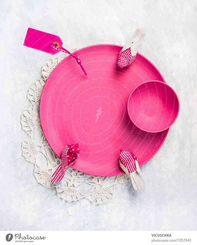 Pink Tisch Dekoration Set Natur Sommer Innenarchitektur Stil Hintergrundbild grau Feste & Feiern Vogel rosa Park Design Dekoration & Verzierung Ernährung Tisch Küche Postkarte