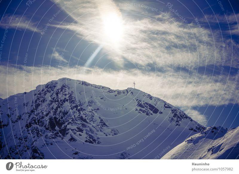 Pitztal Freizeit & Hobby Ferien & Urlaub & Reisen Tourismus Freiheit Sonne Winter Schnee Winterurlaub Berge u. Gebirge Natur Landschaft Himmel Wolken Klima
