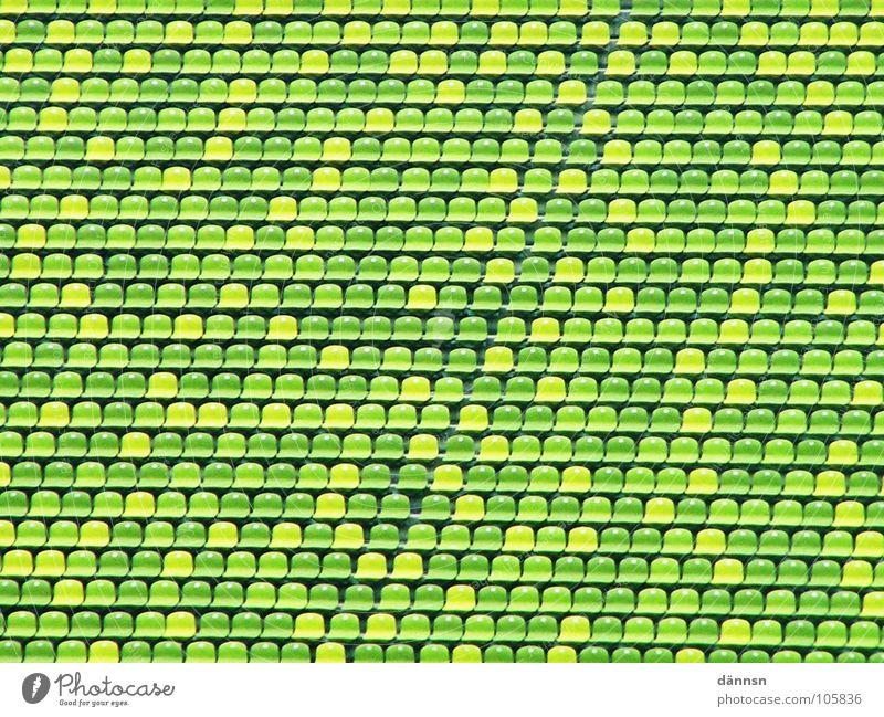 Die kleine grüne Welt leer Freizeit & Hobby München Reihe Sitzgelegenheit Stadion Olympiade grün-gelb Olympiastadion