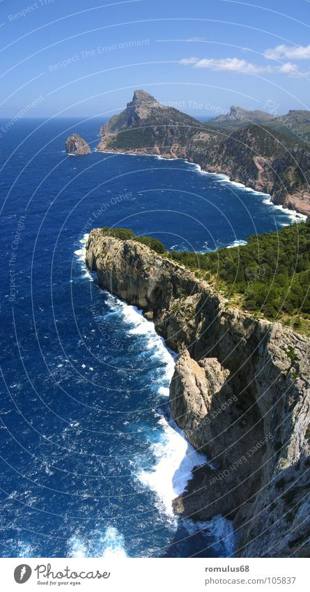 Cap Formentor Mallorca Meer Klippe Brandung Küste Strand Insel