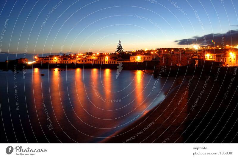Good Night Horta Himmel blau Wasser Baum rot Ferien & Urlaub & Reisen Sonne Meer Strand Wolken Farbe Haus ruhig Straße Graffiti Spielen