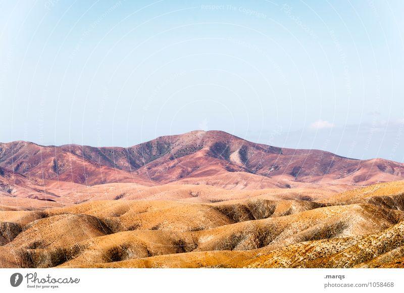 Umgebung Ferien & Urlaub & Reisen Tourismus Abenteuer Ferne Umwelt Natur Landschaft Wolkenloser Himmel Horizont Schönes Wetter Hügel außergewöhnlich heiß