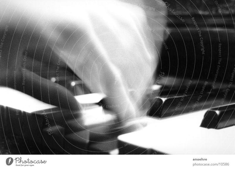 Pianoman Hand Bewegung Musik Kunst Flügel berühren Konzert Klaviatur Klavier