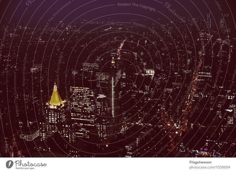 Good Night New York 2 Ferien & Urlaub & Reisen Tourismus Ausflug Ferne Freiheit Sightseeing Städtereise Stadtzentrum Skyline überbevölkert Hochhaus Bauwerk