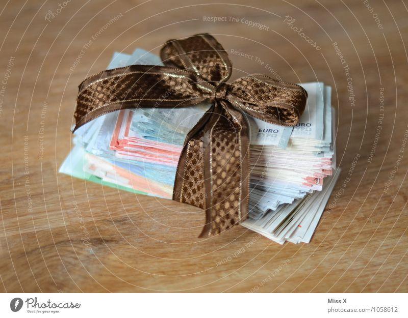 Manni, Manni, Manni Weihnachten & Advent Stimmung Business Geburtstag Geschenk Geld Handel Reichtum reich Geldscheine sparen Krise Eurozeichen Schleife schenken Preisschild