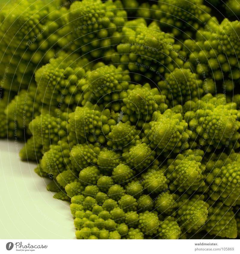 Fraktales Gemüse grün Gesundheit Gemüse chaotisch Vitamin Spirale Vegetarische Ernährung Broccoli Blumenkohl