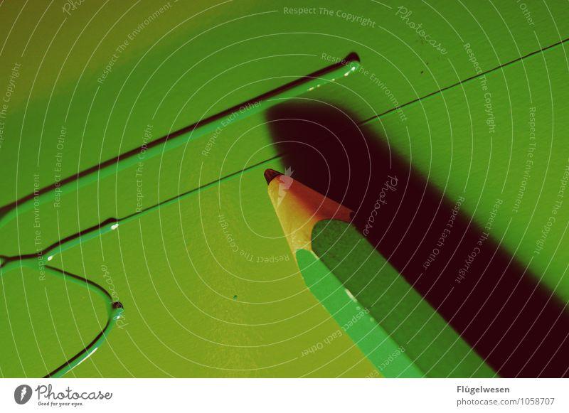Stift Freizeit & Hobby Spielen zeichnen malen mehrfarbig Farbstift Schreibstift Kunst Farbe Farbfoto Makroaufnahme Detailaufnahme Mine Kerne Stapel Sechseck
