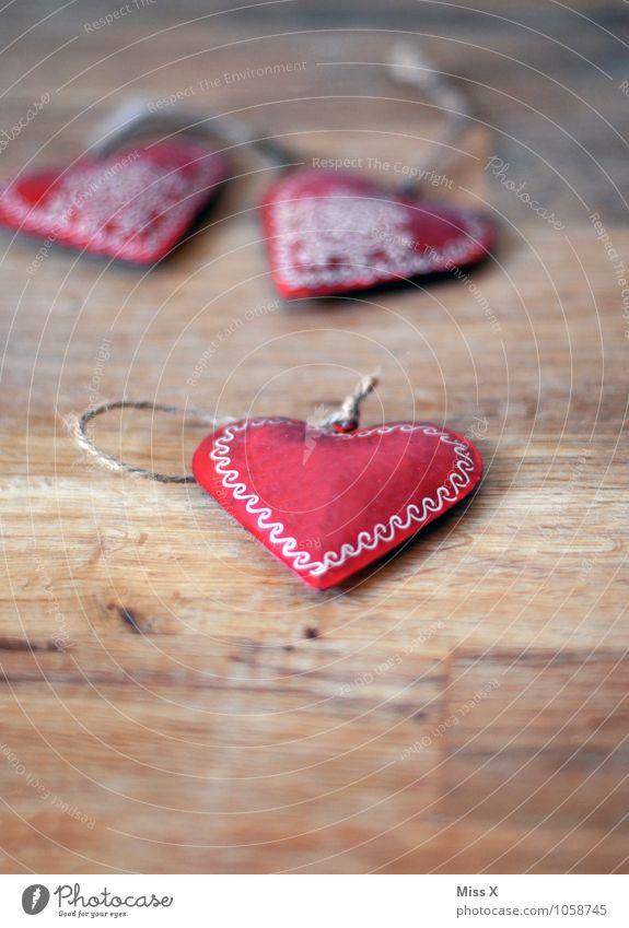 Herz Valentinstag Schmuck Dekoration & Verzierung Kitsch Krimskrams Holz Metall Ornament Gefühle Stimmung Liebe Verliebtheit herzförmig Baumschmuck