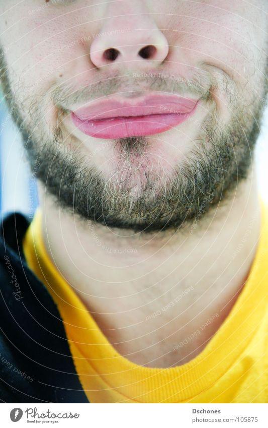 Gna. Gesicht Gefühle Mund Nase Lippen Hals Grimasse