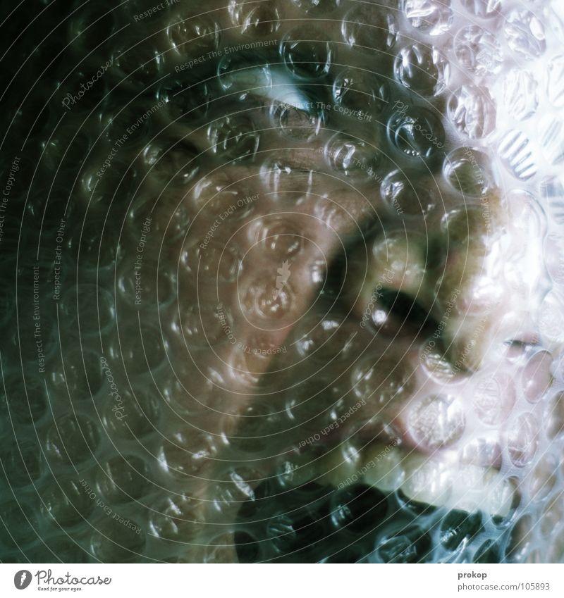Panik II bedrohlich Angst Stress hässlich Schrecken Leiche Wasserleiche ertrinken Halloween Frau Porträt ersticken Luft notleidend gefährlich brutal Atemnot