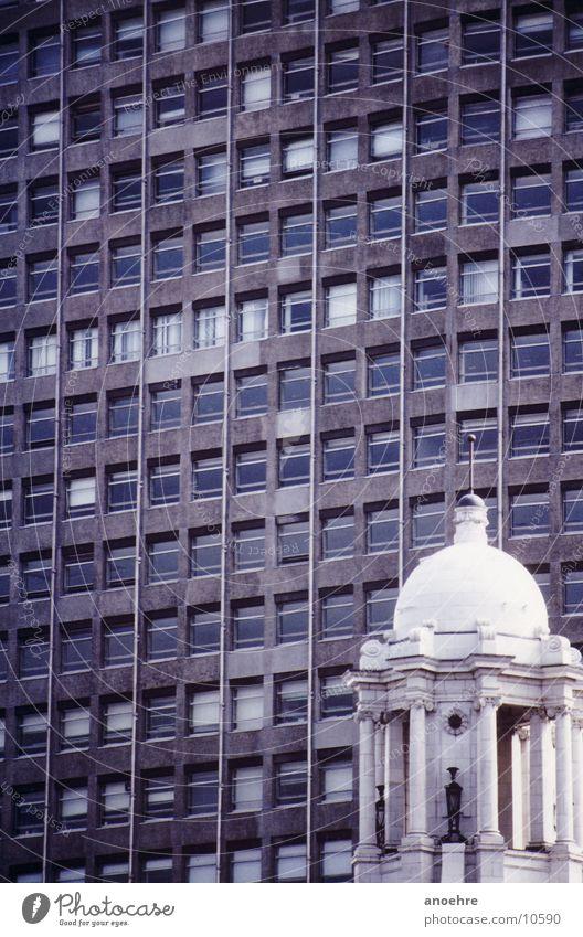 Londoner Gegensätze Architektur Gebäude Gegenteil