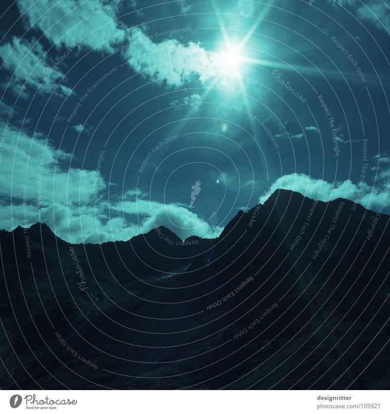 Hochlicht Himmel Sonne Wolken Berge u. Gebirge Stein Wege & Pfade wandern Alpen Fußweg steinig Hochgebirge Hohen Tauern NP