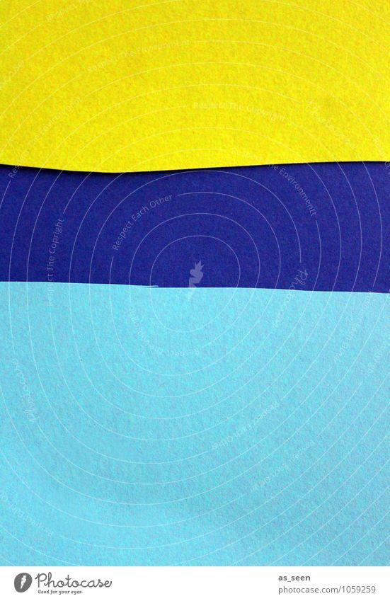 Summertime Lifestyle elegant Design Basteln Kunst Gemälde Printmedien Sommer Strand Meer Papier Zettel ästhetisch Freundlichkeit hell trendy modern blau gelb