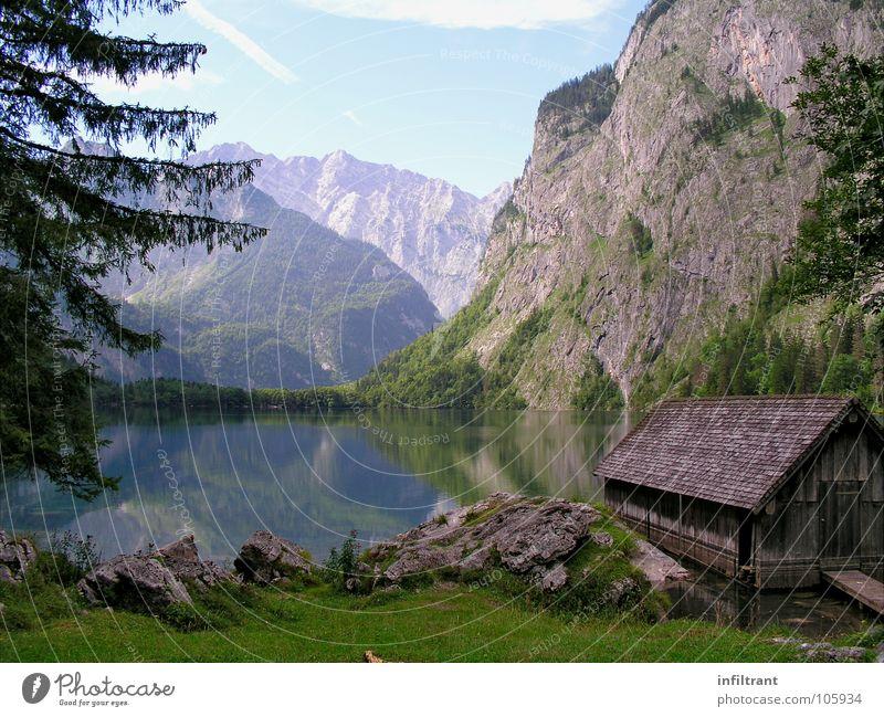 Der Obersee - totale Stille See Bayern ruhig Romantik Berge u. Gebirge Wasser Alpen Landschaft Hütte Natur