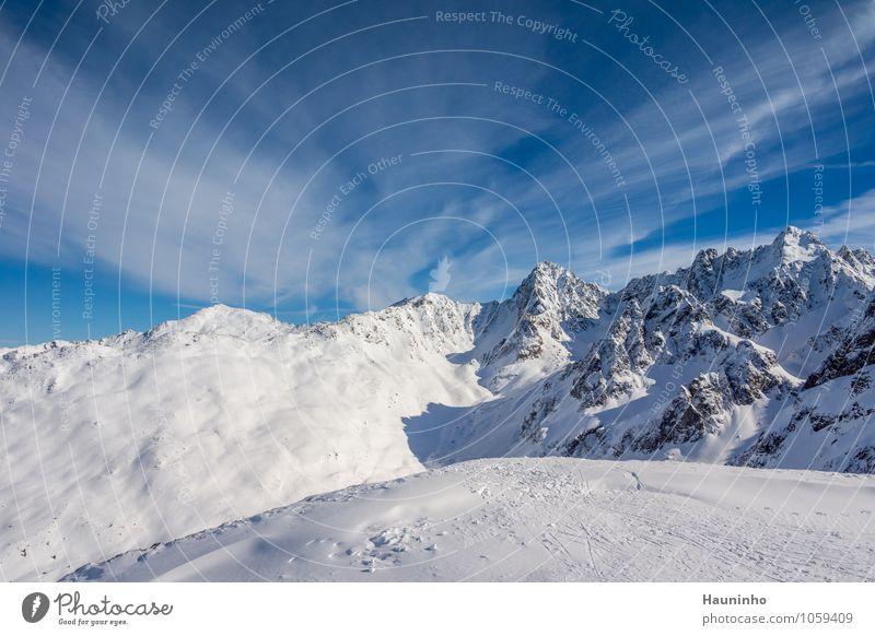 Kaiserwetter Himmel Natur Ferien & Urlaub & Reisen Landschaft Wolken Winter Berge u. Gebirge Gefühle Schnee außergewöhnlich Freiheit Felsen Zufriedenheit Eis