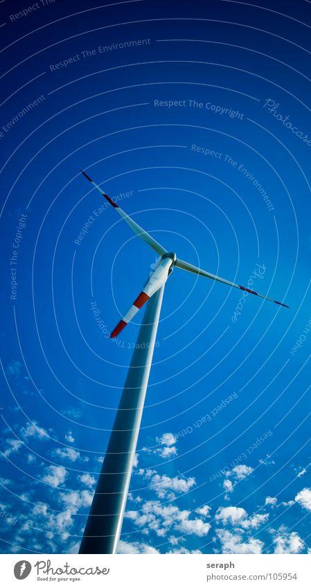 Windkraftrad Himmel Umwelt Energiewirtschaft modern Elektrizität Technik & Technologie Sauberkeit Tragfläche Windkraftanlage Konstruktion ökologisch