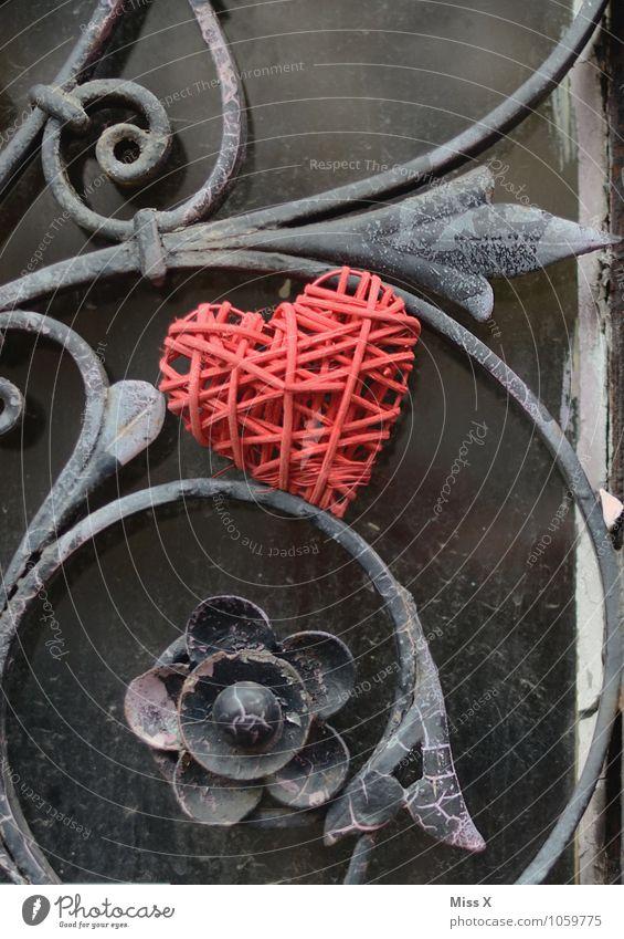 Eisenherz Blume Gefühle Liebe Stimmung Metall Tür Herz Geschenk Romantik Zaun Verliebtheit Tor Liebeskummer Valentinstag Flirten Ranke