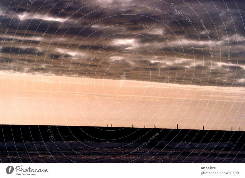 Himmel über der Nordsee Meer Wolken