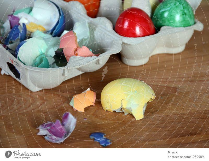 Cholesterin Lebensmittel Ernährung Essen Frühstück Büffet Brunch Picknick Gesunde Ernährung Ostern kaputt mehrfarbig Appetit & Hunger Farbe Osterei Ei
