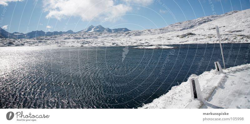 bergsee Wasser alt dunkel kalt Schnee Berge u. Gebirge See Eis hell Schweiz gefroren Alpen Loch Kristallstrukturen Ewigkeit Gletscher