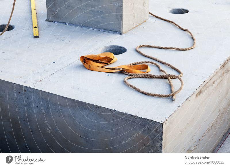 Kaffeepause Hausbau Arbeit & Erwerbstätigkeit Beruf Arbeitsplatz Baustelle Werkzeug Industrieanlage Bauwerk Architektur Beton bauen eckig Pause stagnierend Seil