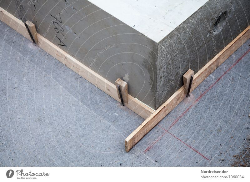 Korrektur Arbeit & Erwerbstätigkeit Beruf Arbeitsplatz Baustelle Handwerk Bauwerk Architektur Beton Holz bauen fest gewissenhaft Missgeschick planen Präzision