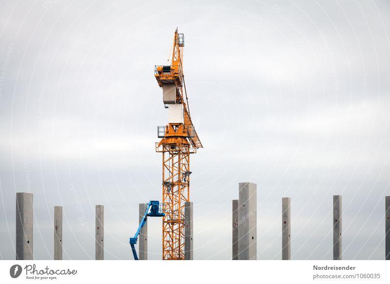Feierabend Architektur Metall Arbeit & Erwerbstätigkeit Business Wachstum groß hoch Technik & Technologie Beton Industrie Wandel & Veränderung Pause Baustelle