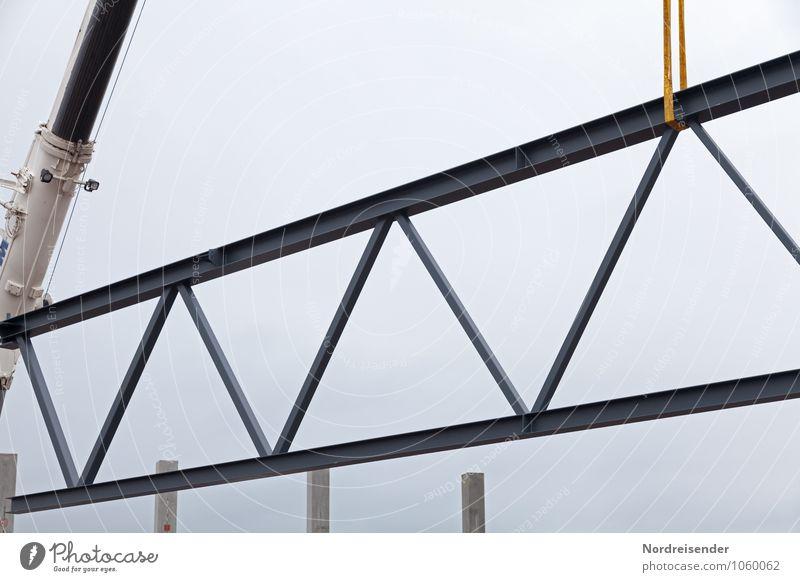 Stahlfachwerk Arbeit & Erwerbstätigkeit Beruf Arbeitsplatz Baustelle Industrie Güterverkehr & Logistik Werkzeug Maschine Baumaschine Industrieanlage Bauwerk