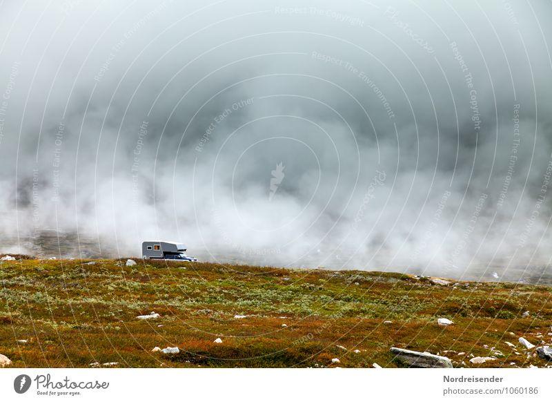 Übernachtungsplatz Ferien & Urlaub & Reisen Camping Berge u. Gebirge Natur Landschaft Urelemente Luft Wolken Gewitterwolken Klima Wetter Nebel Regen Gras