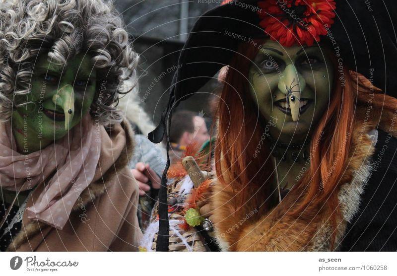 Straßenkarneval Mensch grün rot Umwelt Leben feminin Feste & Feiern Haare & Frisuren Stimmung braun Kunst Fröhlichkeit Bekleidung fantastisch Lebensfreude
