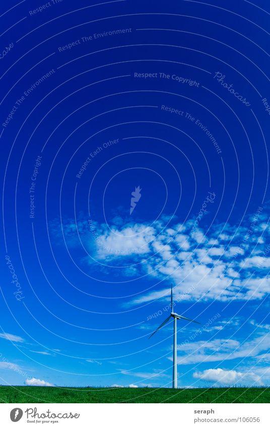 Windkraft Himmel Umwelt Energiewirtschaft modern Elektrizität Technik & Technologie Sauberkeit Tragfläche Windkraftanlage Konstruktion ökologisch Umweltschutz