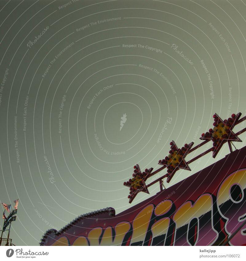 drei sterne urlaub Freude Lampe Schilder & Markierungen Schriftzeichen Stern (Symbol) USA heiß Hotel Werbung Typographie Jahrmarkt Amerika Drei Sterne