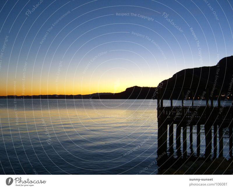 Romantik Pur Sonnenuntergang See Italien Steg Gardasee Sommer Gardersee Wasser